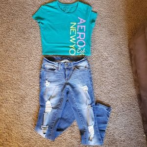 Bundle Aeropostale Top & Jeans